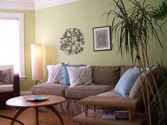 Green And Brown Living Room | Green Living Rooms | livingroom21.com