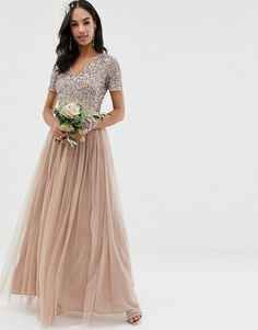 Search for maya bridesmaid tulle dress with tonal delicate sequins in taupe blush at ASOS. Shop from over styles, including maya bridesmaid tulle dress with tonal delicate sequins in taupe blush. Embellished Bridesmaid Dress, Short Lace Bridesmaid Dresses, Affordable Bridesmaid Dresses, Lace Bridesmaids, Asos Bridesmaid Dress, Embellished Top, Maxi Dress With Sleeves, Tulle Dress, Maya