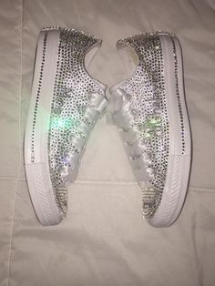 Women's Bling Converse Sneakers Embellished