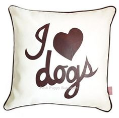 Poshpuppyboutique , Signature dog pillow for the pet-lover. A best-seller to match to our full range of pet-lover tote bags! Get them in every color and print!