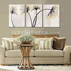 Personalized Canvas Print Abstract Flower 35x50cm 40x60cm 50x70cm Framed Canvas Painting Art Set of 3 - AUD $ 52.43
