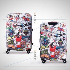 Luggage Protector Elastic Suitcase Cover Bags Dustproof Anti scratch Graffiti AU