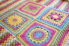 Granny squares and stripes. Nice border