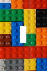 Lego blocks Light Switch Plate cover Kids Room Home decor Unique