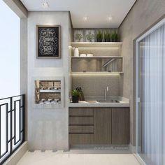 46 Inspiring Mini Bar Design Ideas On Your Apartment Balcony Design # Mini Bars, Small Apartment Furniture, Home Furniture, Ideas Terraza, Balkon Design, Apartment Balconies, Small Apartments, Balcony, Kitchen Design