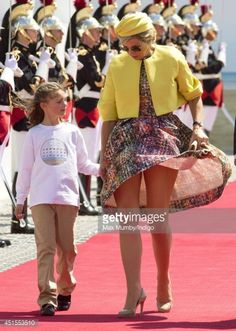 Flasback; Facing the Wind like Royalty ;-). Queen Maxima of The Netherlands attends the International Ceremony at Sword Beach to commemorate...