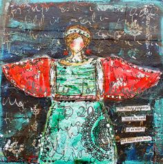 The Voice of an Angel Mixed Media Print by by ChristyTomlinson