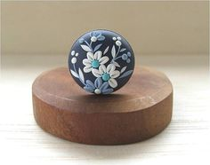 Christmas Gift Ring Floral Christmas Gift Blue by Floraljewel