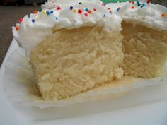 (dairy free) White Cupcakes (can be adapted for whole cake)