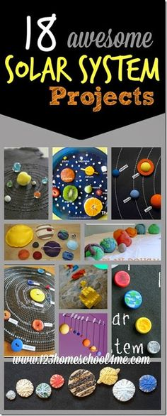 18 solar system projects for kids - These are such creative science projects for kids of all ages to explore planets, space, the sun and more! Science Activities for Kids Kid Science, Earth And Space Science, Preschool Science, Elementary Science, Preschool Kindergarten, Science Classroom, Science Experiments, Kindergarten Projects, Classroom Ideas