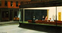 nighthawks, 1942 by Edward Hopper (1931-1967, United States)