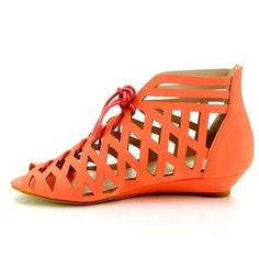 Be Intouch Madden-2 Women's Lace-Up Cut-Out Caged Flat Sandals | Overstock.com Shopping - Great Deals on Sandals
