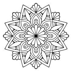 – Pages to Colour - Malvorlagen Mandala Mandala Design, Mandala Floral, Mandala Pattern, Zentangle Patterns, Zentangles, Doodle Patterns, Mandala Art Lesson, Mandala Drawing, Mandala Painting