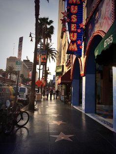 Sunset Boulevard, Hollywood. Walk of fame!