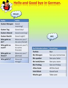 How to say :Hello and goodbye  in German  #learngerman  http://www.uniquelanguages.com/#/german-courses/4578233852