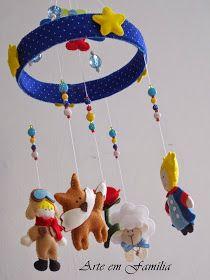 Arte em Família: Móbile de Berço O Pequeno Príncipe