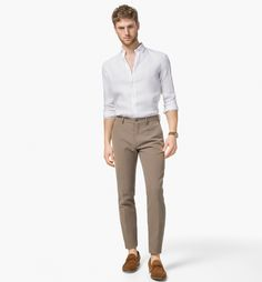 TEXTURED TWO-TONE TROUSERS