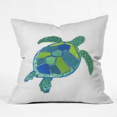 East Urban Home Sea Turtle by Laura Trevey Indoor/Outdoor Throw Pillow & Reviews | Wayfair