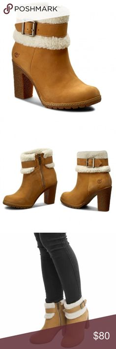 5cc3d2394f1 New Timberland Glancy fleece fold down boot Leather and faux-fur  upper.nubuck Side