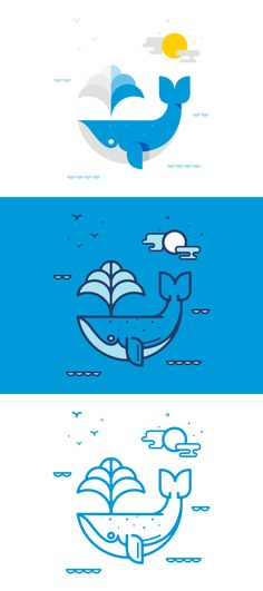 Nick Slater // Whale // Various ways to execute the same illustration