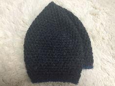 濃グレーのベレー帽