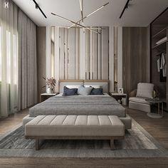 Master Bedroom | The Allegria on Behance Modern Luxury Bedroom, Luxury Bedroom Design, Master Bedroom Interior, Modern Master Bedroom, Room Design Bedroom, Bedroom Furniture Design, Best Interior Design, Contemporary Bedroom, Luxurious Bedrooms