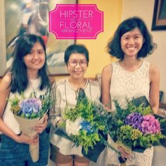 The cracked screen on my mobile rendered me unable to tell that the picture taken was so blurred...   Nonetheless these are the ladies who attended the recent Hipster Bouquet Floral Arrangement Workshop     Same workshop same methods but varied styles based on their preferences   I showed them different ways of wrapping and different materials for wrapping too! Be it a rustic feel or a little glammed-up bling you can be assured I'll let you have it either way   #MojoAtelier #hipster…
