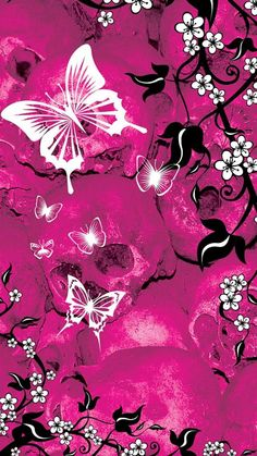 Pink Butterfly Backgrounds   Pink Butterfly landscape wallpaper to     Colorful fluorescent butterfly wallpapers for galaxy