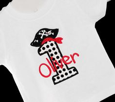 Personalized Birthday Pirate Number Monogrammed by bowdaciousbaby2, $18.00