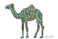 Camel Silhouette Zentangle by JustinesDesign on Etsy
