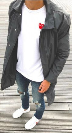 new ideas for moda hombre hipster fashion men's style Cool Outfits, Casual Outfits, Fashion Outfits, Winter Outfits, Fashion Trends, Fashion Moda, Mens Fashion, Mens Style Guide, Hipster Fashion