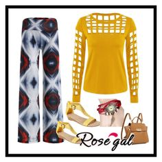 """""""Rosegal#12"""" by fatimazbanic ❤ liked on Polyvore featuring Kenneth Cole Reaction and ZAC Zac Posen"""