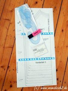 Schnittmuster anpassen: Halsaussschnitt vergrößern/verkleinern - Mamahoch2