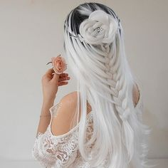 65 Badass Box Braids Hairstyles That You Can Wear Year-Round - Hairstyles Trends Cute Hair Colors, Pretty Hair Color, Beautiful Hair Color, Hair Dye Colors, Ombre Hair Color, Box Braids Hairstyles, Down Hairstyles, Pretty Hairstyles, Wedding Hairstyles