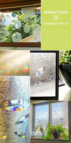 @rabbitgooing Rabbitgoo® Superior No-Glue 3D Static Illuminative Privacy Window Films,23.6In X 78.7In.(60 x 200Cm)