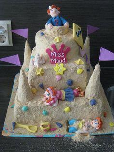 Zand kasteel taart