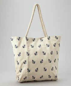 Take a look at this Navy Anchor Tote on zulily today!