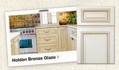 Glazed Kitchen Cabinets on Holden Bronze Glaze Assembled Kitchen Cabinets