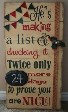 Cute Christmas Countdown Sign by Caiteyb