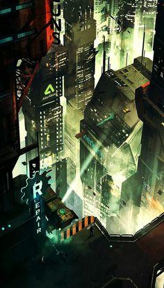 Cyberpunk City scape