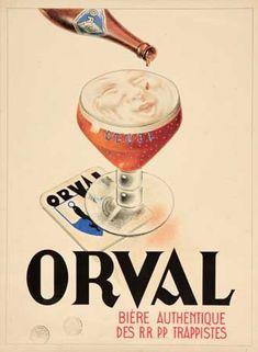 Orval - Bière authentique des Trappistes - 1930's -
