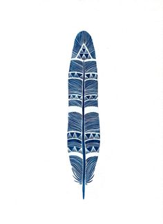 """Royal Blue Feather"" Marisa Redondo"