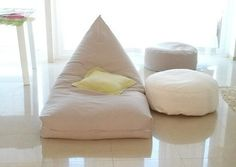 bean bag cover - bean bag chair cover - bean bag cushion cover - pouf cover-  floor cushion cover -  cover only