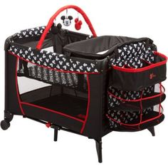Disney Baby Mickey Mouse Sweet Wonder Play Yard, Mickey Silhouette - Walmart.com