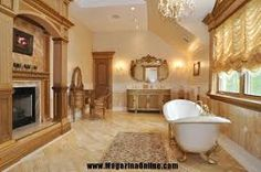 Image result for bathroom fireplace