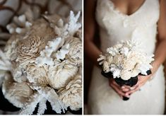 Winter Wedding Obsessions: Balsa Wood and Pine Cones - this would be PERFECT for Nadia's weddinng. Seasonal (in November) and much more practical then flowers. She can keep this after for a very long time!