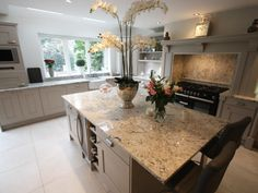 Elegant granite worktops on this real kitchen by Kitchen Worktop, Granite Worktop Kitchen, Replacing Kitchen Countertops, Kitchen Plans, Kitchen Remodel, Kitchen, Kitchen Diner, Real Kitchen, Kitchen Renovation