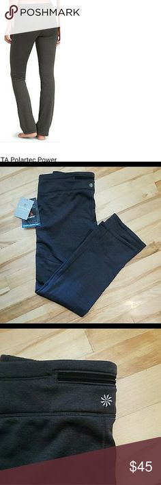 Athleta polartec heathered power stretch pant These pants are brand new with tag soft fleece inside. Made of polartec power stretch fabric. Size large. athleta Pants