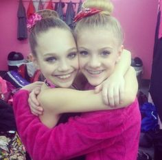 Paige Hyland and Maddie Ziegler from lifetimes hit show Dance Moms!!!!!
