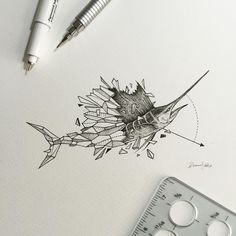 Geometric Beasts | Sailfish